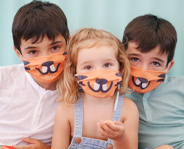 Mascarillas infantiles personalizadas