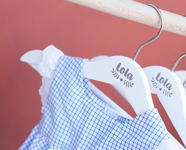 Perchas personalizadas bebé