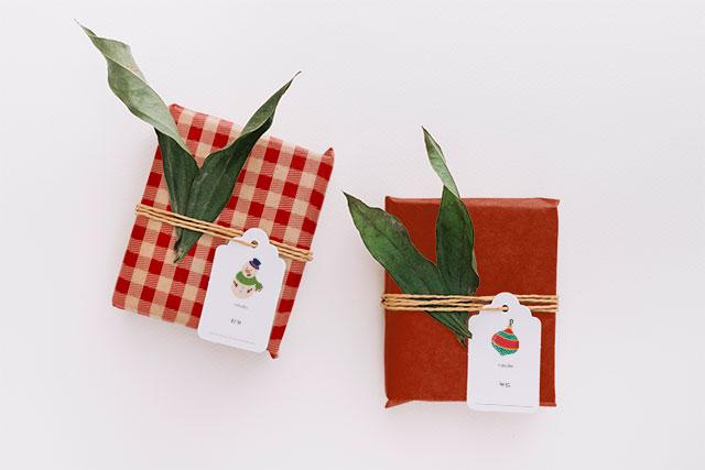 empaquetado regalo navidad original