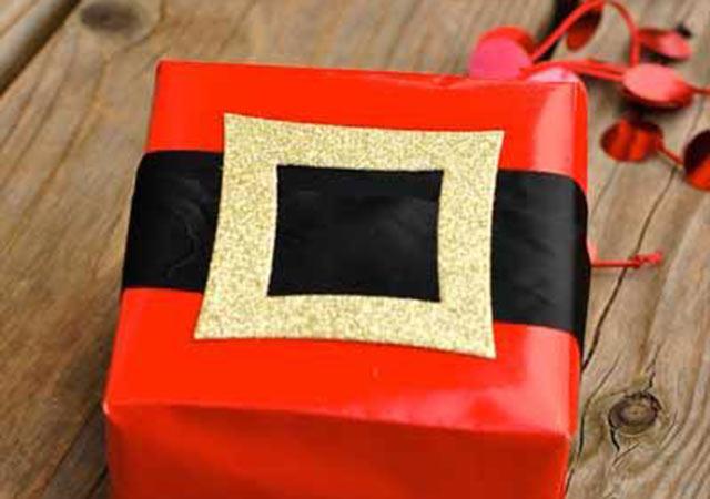 paquete regalo santa claus