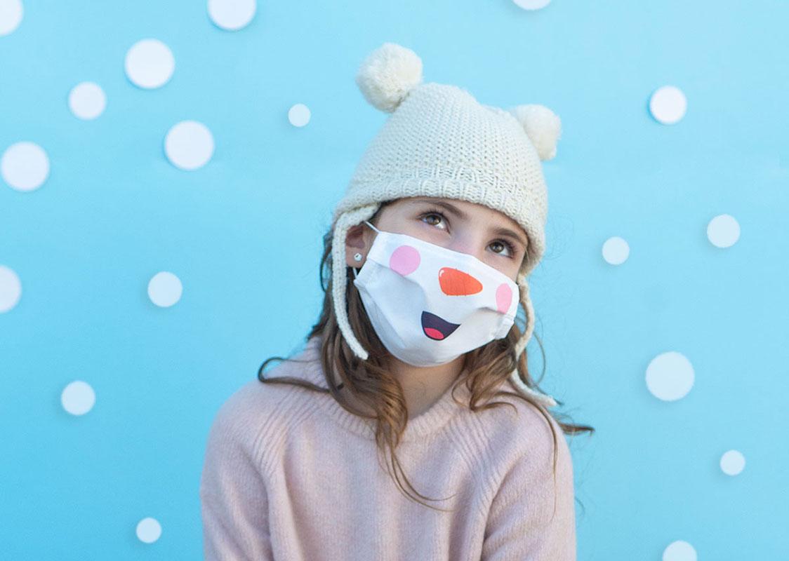 Mascarilla muñeco nieve