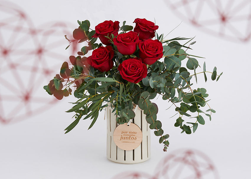 Ramo flores San Valentín