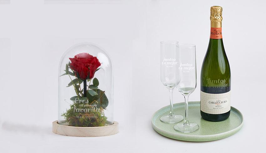 Rosa eterna cúpula cristal