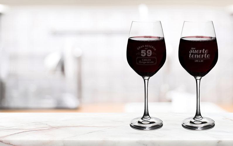 Copas vino personalizadas