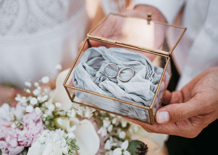 Caja anillos boda
