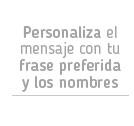 Mensaje personalizado
