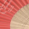 Abanico personalizado bambú