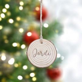 Adorno navidad madera nombre