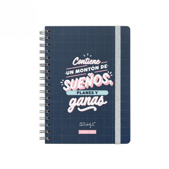 Agenda Mr. Wonderful sueños y planes