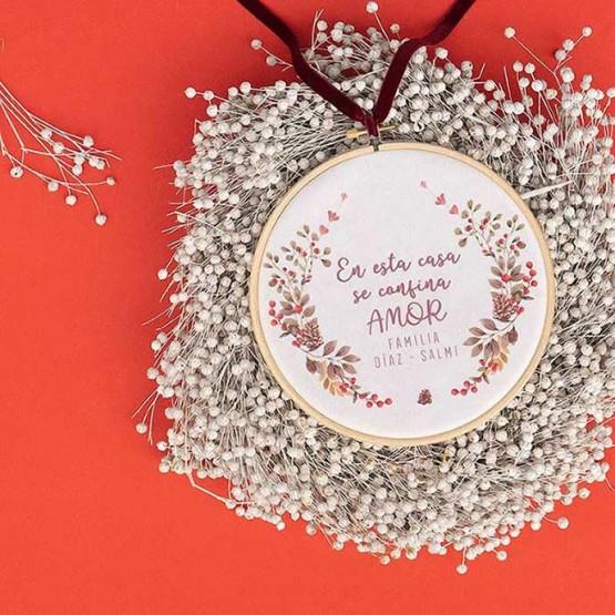 corona navidad personalizada