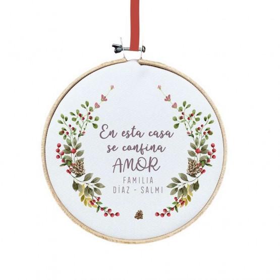 decoración para puerta navidad
