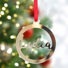 Bola Navidad metacrilato dorado