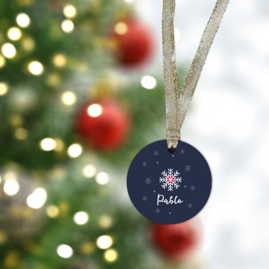 adorno navidad personalizado nieve