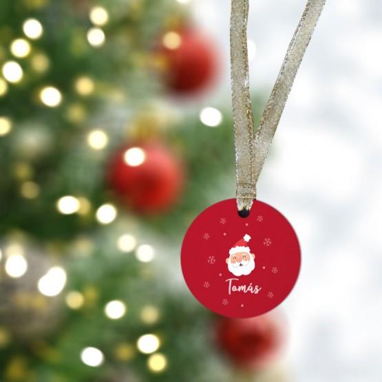 Bola Navidad Papá Noel roja
