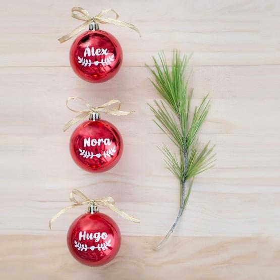 bolas navidad con nombre