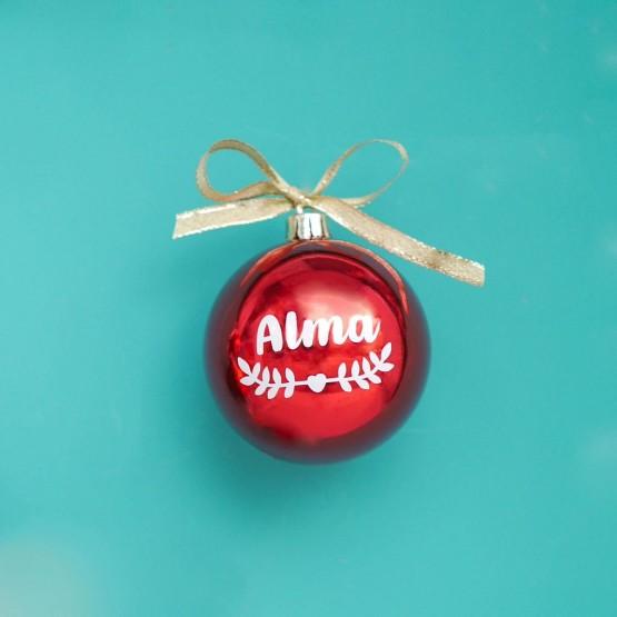 bola navidad personalizada roja