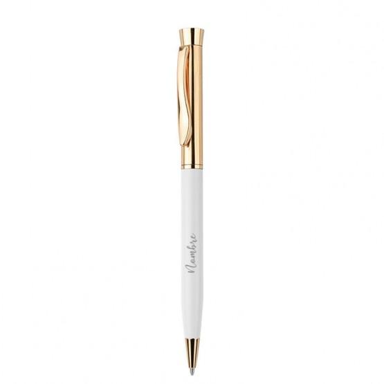 bolígrafo personalizado blanco