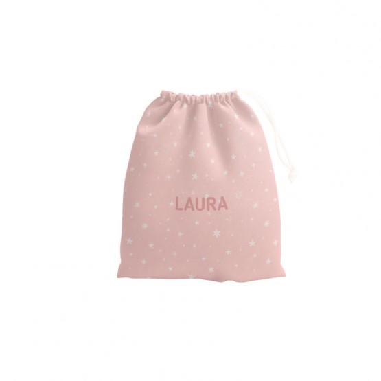 bolsa para la merienda rosa