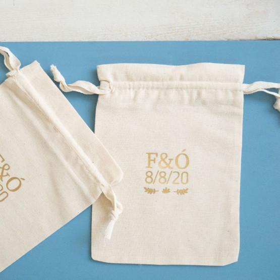 bolsas de tela para detalles de boda