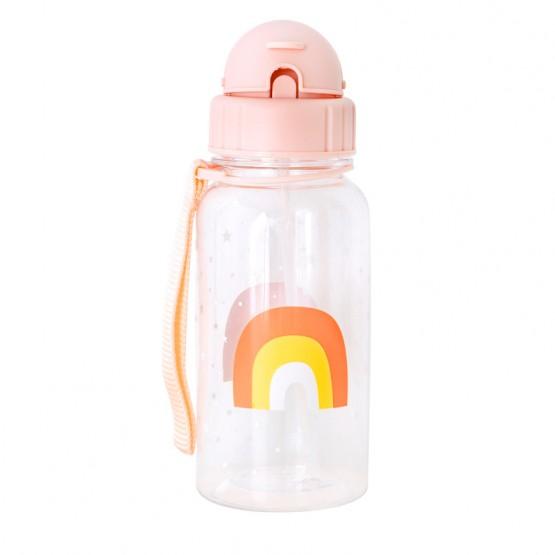 botella agua arcoíris
