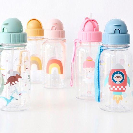 Botella de agua para niños espacio