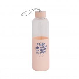 Botella de agua de cristal para mamá