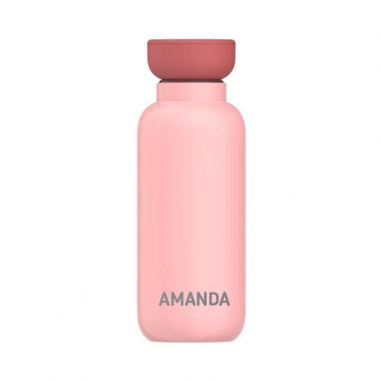 botella térmica rosa