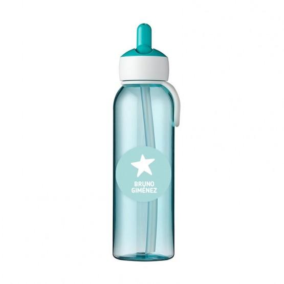 botella para el agua azul