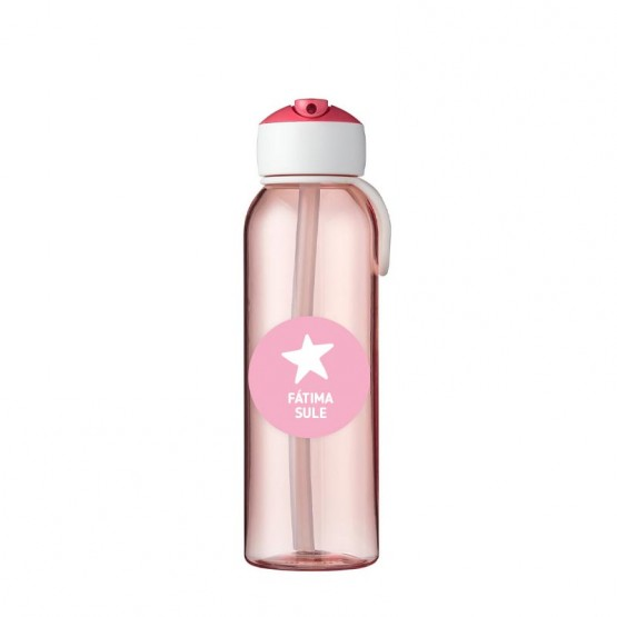 botella rosa para el agua