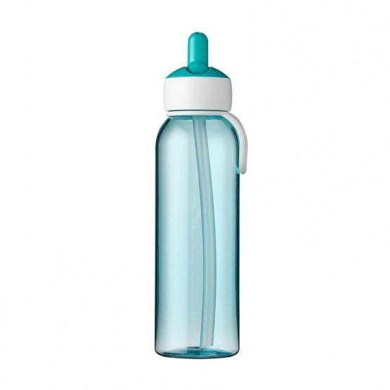 botella flip up azul