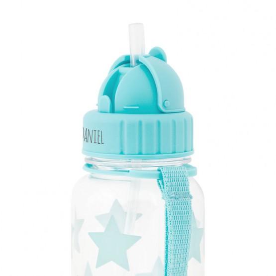 botella con pajita guardería