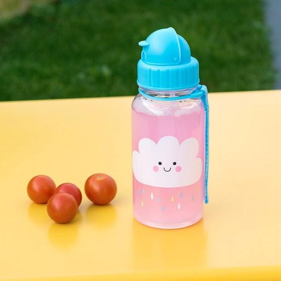 botella guardería con pajita