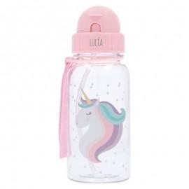 Botella pajita unicornio personalizada