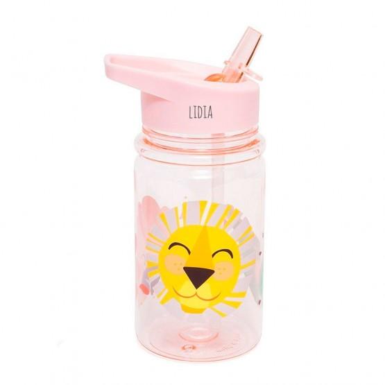 botella rosa personalizada