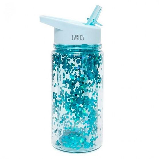 botella personalizada con purpurina