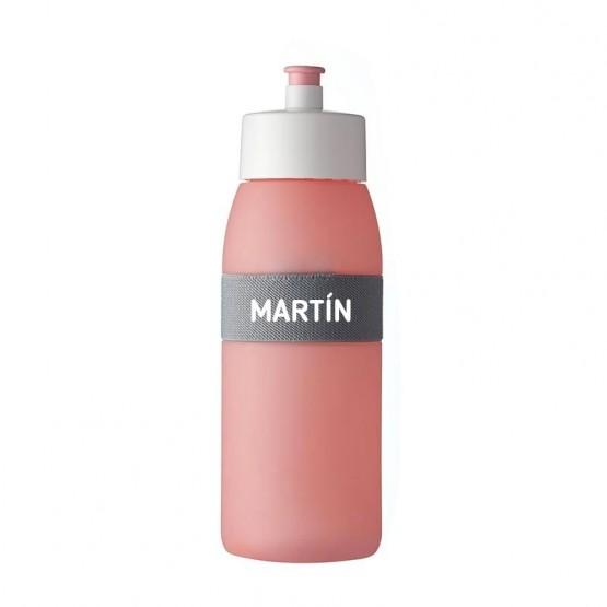 botella sport rosa