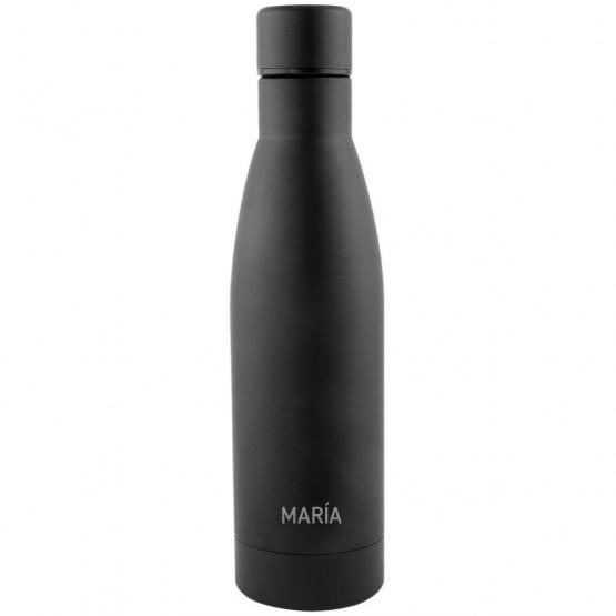 botella negra aluminio personalizada