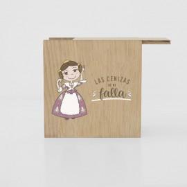 caja cenizas falla madera