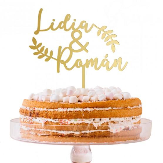 Cake topper boda