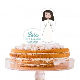 Cake Topper Comunión personalizado