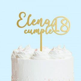 Cake topper cumpleaños
