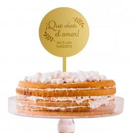 Cake topper con mensaje