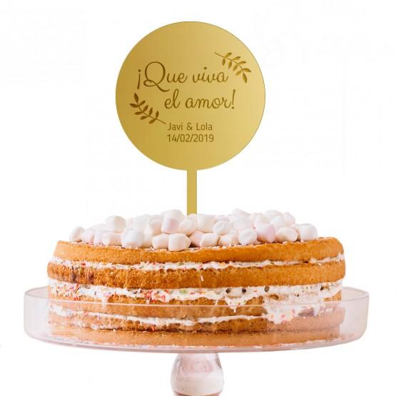 Cake Topper tarta con mensaje