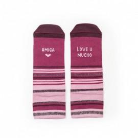 "Calcetines ""Amiga love u mucho"""