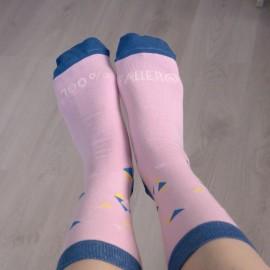 calcetines falleros rosa
