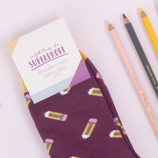 calcetines lapices para profes