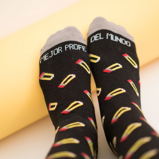 calcetines lápices profe