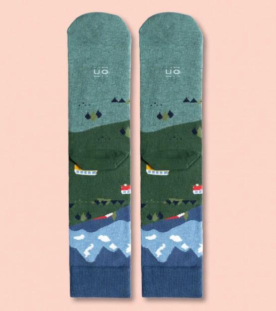 calcetines con caravana