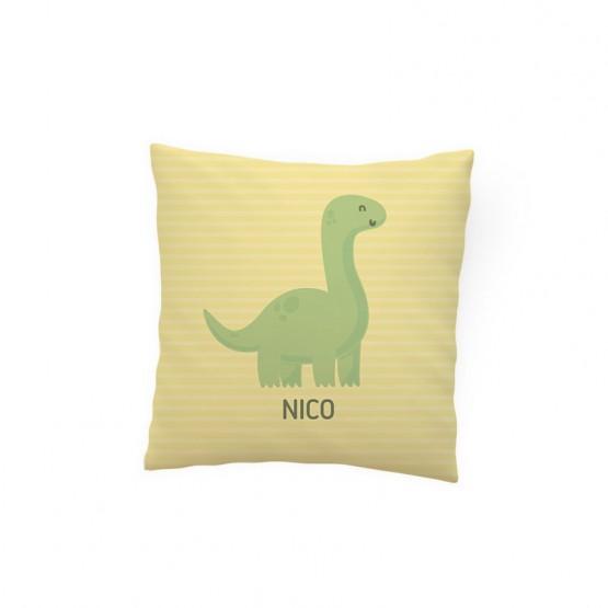 cojin personalizado dinosaurio