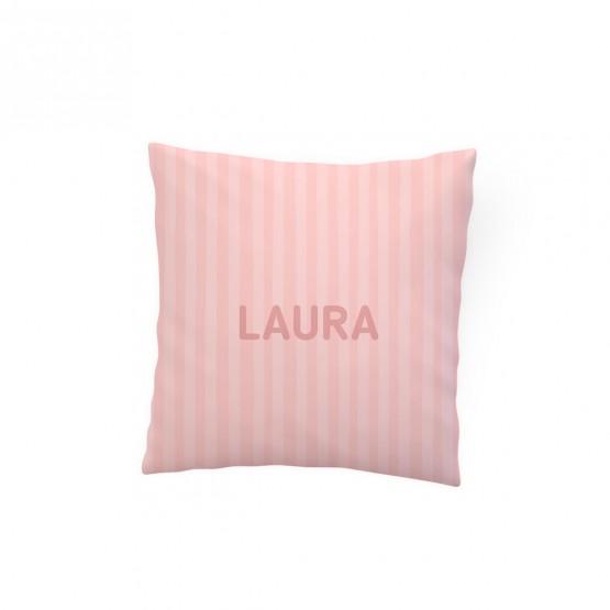 cojin rayas rosa